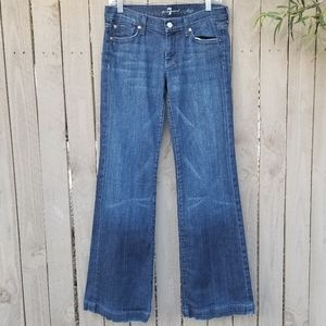 7 for all Mankind Dojo Jeans Sz 27 Wide Leg Blue